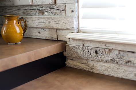 reclaimed wood kitchen backsplash barnwood wall plank series from e s tile kafka granite 4532