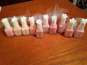 Bridal shower veil nail polish favors that i made for Ideas for wedding shower favors