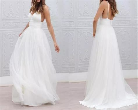 2017 Beach Summer Boho Wedding Dress Sexy Backless