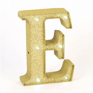 gold glitter light up letter e valentines gifts for her With light up letter e