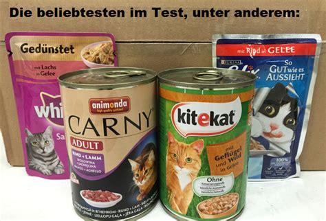 katzenfutter test nassfutter trocken vergleich