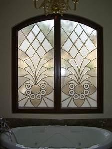 Bathroom windows quotarabesque bevelsquot leaded beveled glass for Bathroom window glass styles
