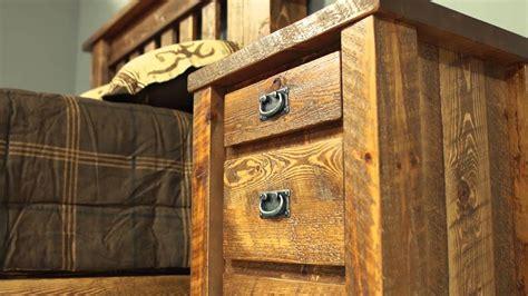 barnwood bedroom furniture viking log furniture youtube