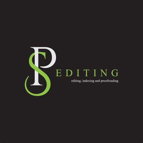 elegant logo design   sp editing business