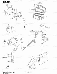 Suzuki Motorcycle 1996 Oem Parts Diagram For Electrical