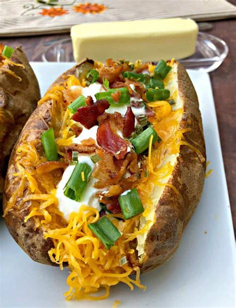fryer air baked potatoes loaded easy potato long cook stuffed recipe quick melted twice cheese butter cooking sprinkle until minutes