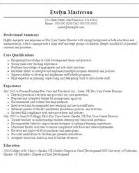 resume for daycare assistant director director resumes sle resumes livecareer