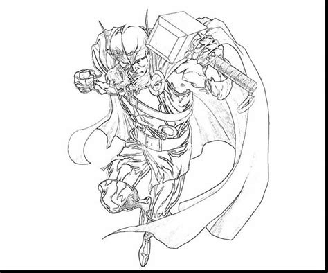 avengers thor coloring pages drawing personal free