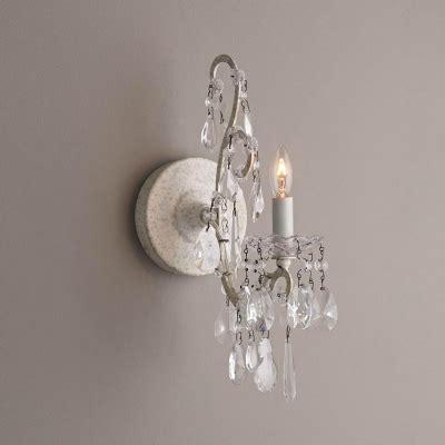 vintage wall light single light crystal sconce candle