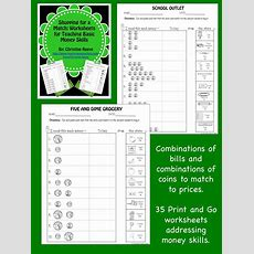 Money Skill Worksheets Shopping For A Match {special Ed; Autism}  Coins, Worksheets And Simple