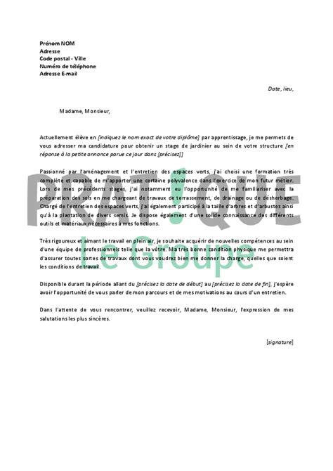 application cuisine gratuite lettre de motivation pour un stage de jardinier pratique fr