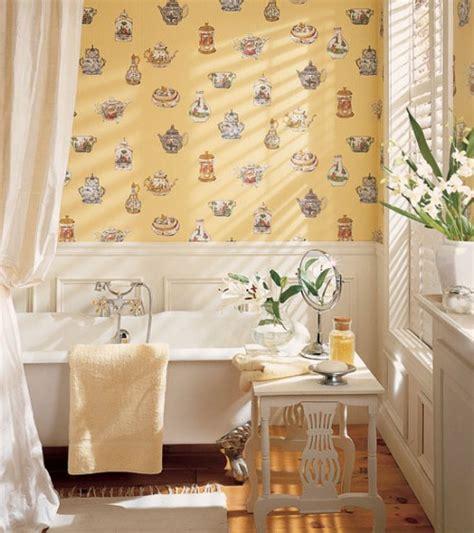 wallpapered bathrooms ideas 30 bathroom wallpaper ideas shelterness