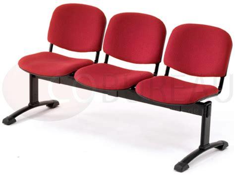 siege sur poutre siège accueil poutre 3 places smart tissu