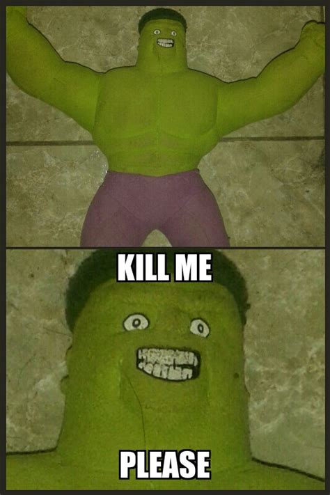 Kill Me Meme - hulk kill me kill me know your meme