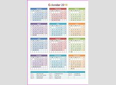 2019 Holiday Calendar USA #calendar2019 #printablecalendar
