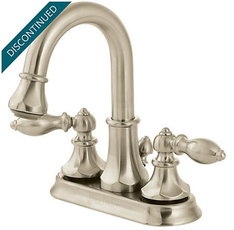 brushed nickel centerset pull out bath faucet