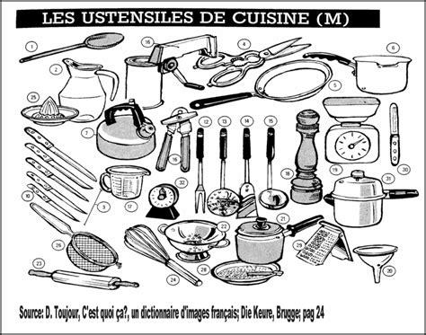 ustensile de cuisine liste les ustensiles de la cuisine le coin de français
