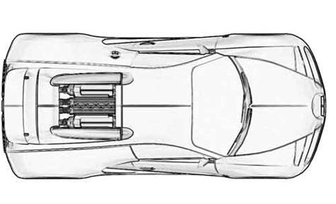 Bugatti Veyron Blueprint by Of Bugatti Veyron 3dm3