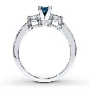 blue sapphire engagement rings white gold princess cut blue sapphire and engagement ring in white gold jeenjewels