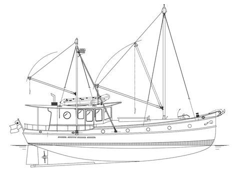 Fishing Boat Plans by Fishing Trawler Drawing