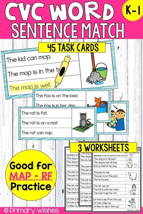 You can also try the above cvc sentences worksheets after trying this pack. CVC Simple Sentence Match | Cvc words, Simple sentences ...