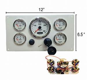 Cummins Marine Engine Instrument Panel