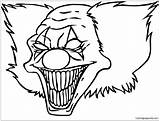 Clown Funny Coloring sketch template
