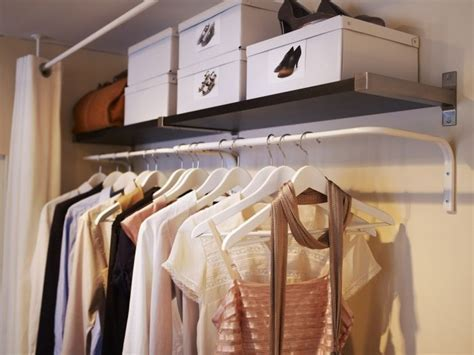 Wall Mounted Clothes Hanging Bar Interior Designs