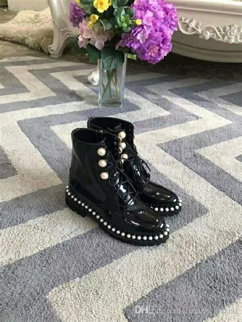 black patent leather women ankle boots shoes lace  design fashion female runway combat booties