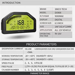 Shop For Sinco Tech Do908 High Performance Race Car Gauges