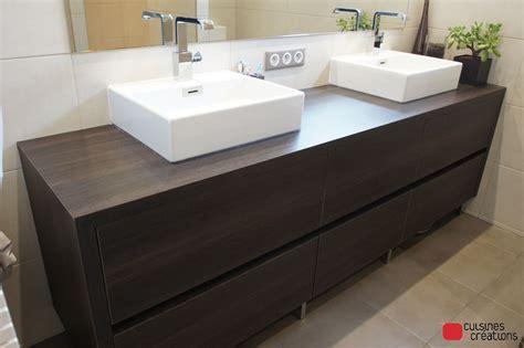 meuble salle de bain avec meuble cuisine faire meuble salle de bain avec meuble cuisine