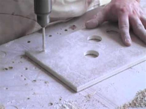 Drilling Small Holes In Porcelain Tile by How To Drill Holes In Ceramic Tile Without Breaking Them