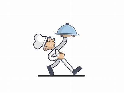 Chef Animated Animation Motion Walks Behance Project
