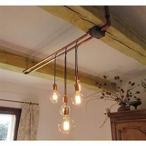 Lustre En Cuivre : une suspension cuivree par alain falbala luminaires ~ Teatrodelosmanantiales.com Idées de Décoration