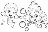 Bubbles Coloring Pages Blowing Printable Getcolorings sketch template