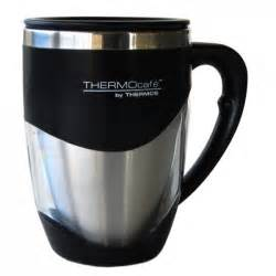 Buy Thermos Travel Mug ThermoCafe Double Wall   Stainless Steel , Black online in Australia and