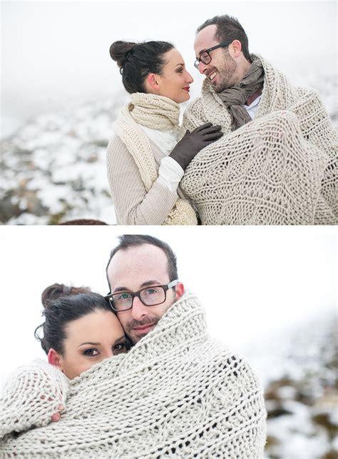 Schnee & Blumen  Hochzeitsinspiration Im Schnee The