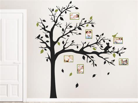Wandtattoo Fotorahmen Baum Mit Katze Wandtattoosde