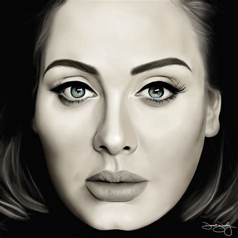 How To Draw Adele  Youtube