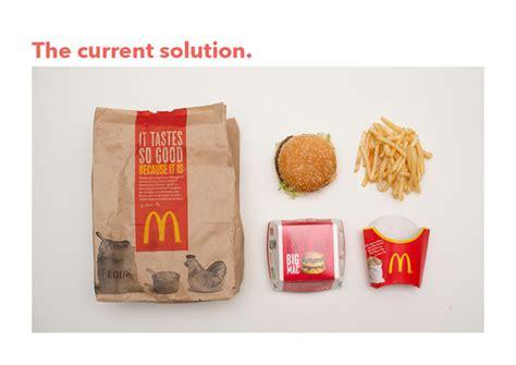 Designer imagina embalagem mais prática e econômica para 1 lanche do McDonald's - Blue Bus