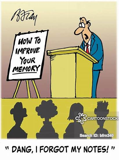 Memory Loss Lecture Cue Cartoon Cartoons Cards