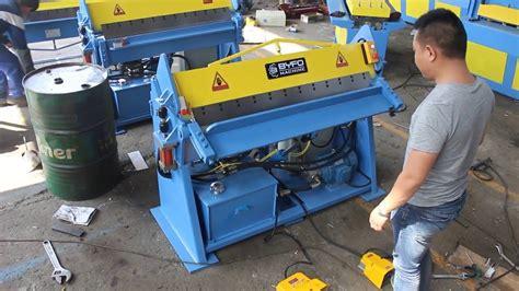 hydraulic sheet metal bending machinesmall metal folding machine youtube