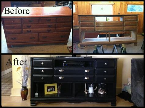 Goodwill Find Transformed Into A Tv Stand