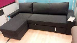 Manstad sectional sofa bed small sectional sleeper foter for Sectional sofa with pull out bed and recliner