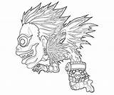 Death Coloring Note Pages Ryuk Character Printable Drawings Getcolorings Line Lovely Temtodasas Print Funny Another sketch template