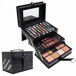Palette Pas Cher : malette maquillage 3 etages croco noir achat vente ~ Nature-et-papiers.com Idées de Décoration