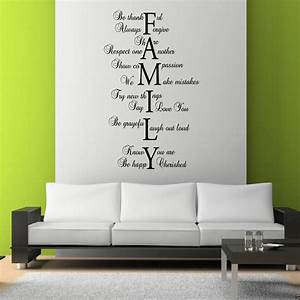 Family love life wall art sticker quote room decal mural for Family wall art
