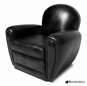 Fauteuil club bradford grand fauteuil club en cuir for Fauteuil club noir