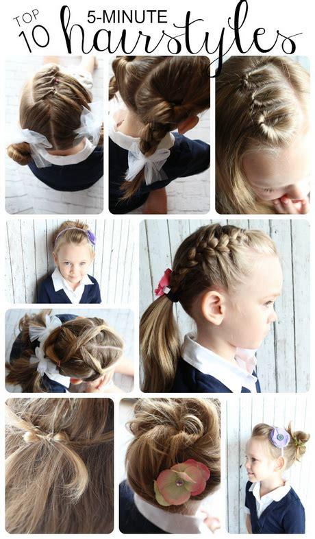5 minute hair styles 10 easy hairstyles for school 1042