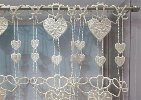 macrame rideau cuisine petit rideau cantonnière macramé coeur écru petit rideau prêt à poser petit rideau à la coupe